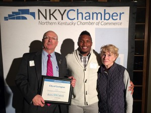 CT with Frank Warnock and Covington Mayor Sherry Carran at the NKY Chamber Awards.